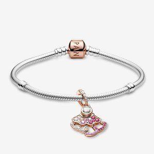 Pink Fan Bracelet Set